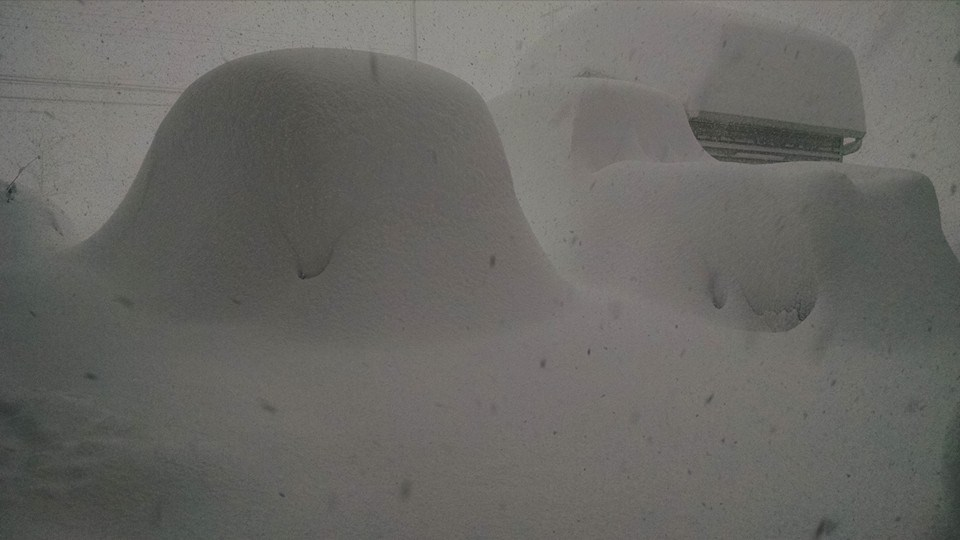 Cars Look Like Hills of Snow!