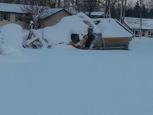 county plow stuck