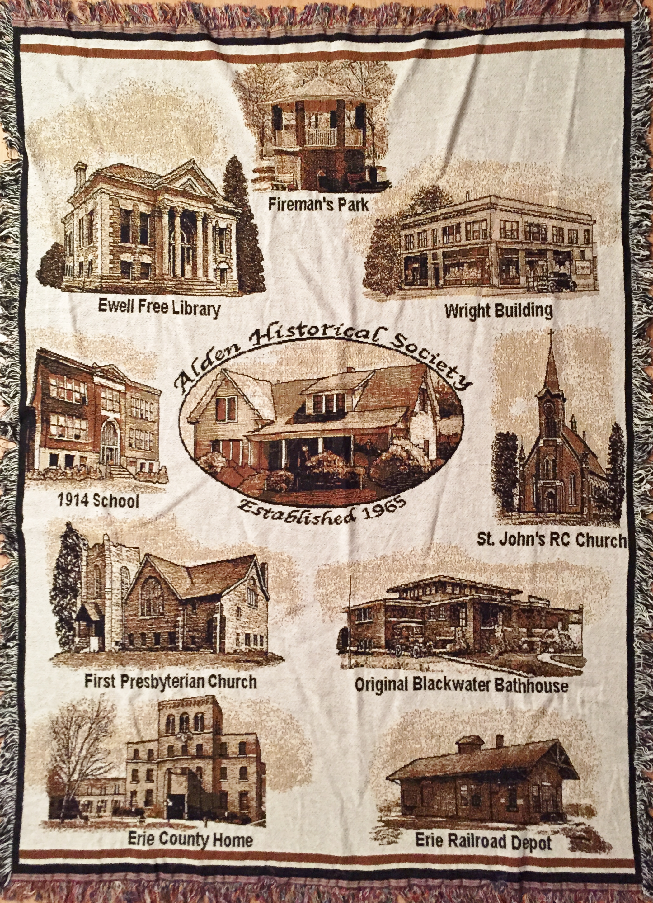 Historical Society Celebrates Alden's History with Tapestry