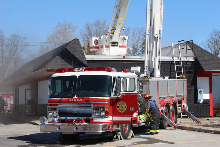 Fire in the Alden Village Plaza at the Verizon store on Sunday, April 17th.