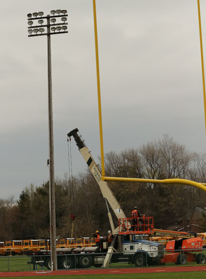 ACS Football Field Lights Being Replaced