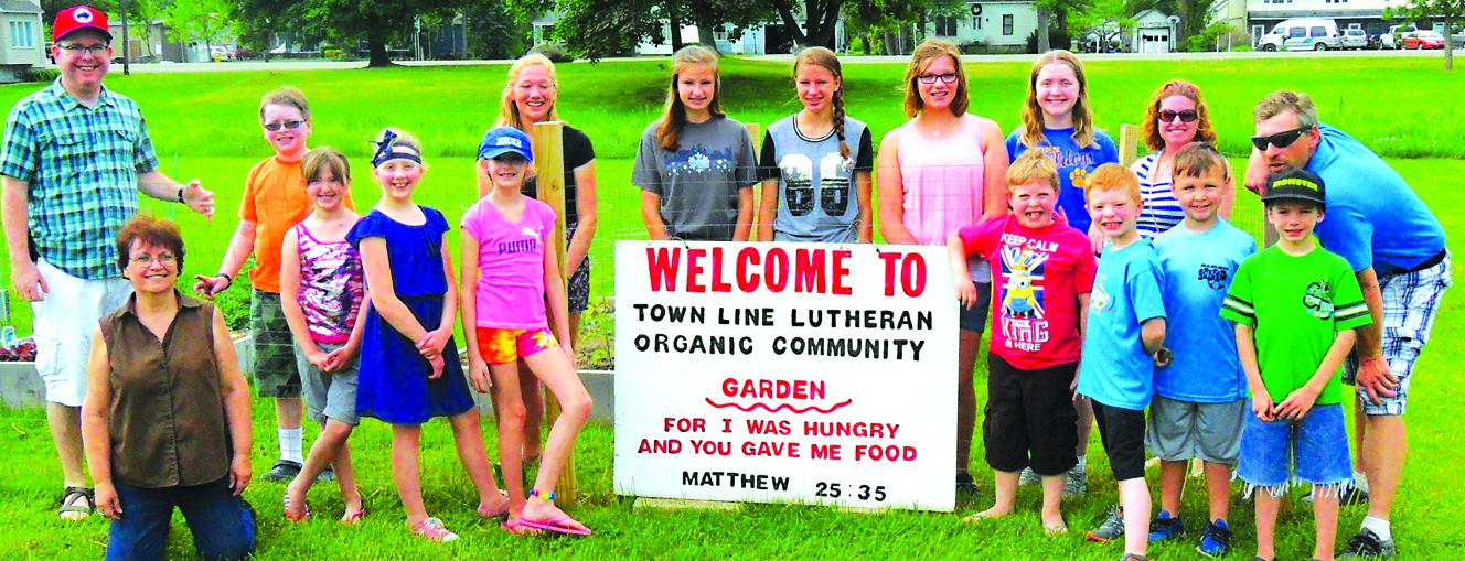 Tine Line Lutheran Church has Organic Garden