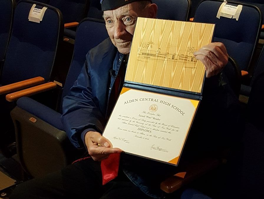 WWII Veteran Gets Diploma