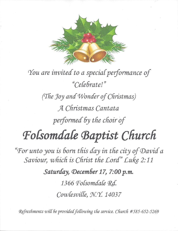 Concert at Folsomdale Baptist Church