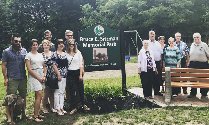 The Bruce E. Sitzman Memorial  Park Dedicated