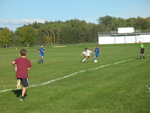 JV - Brad cuts into the Eden penalty area