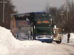 Bus Stuck on Clinton Street
