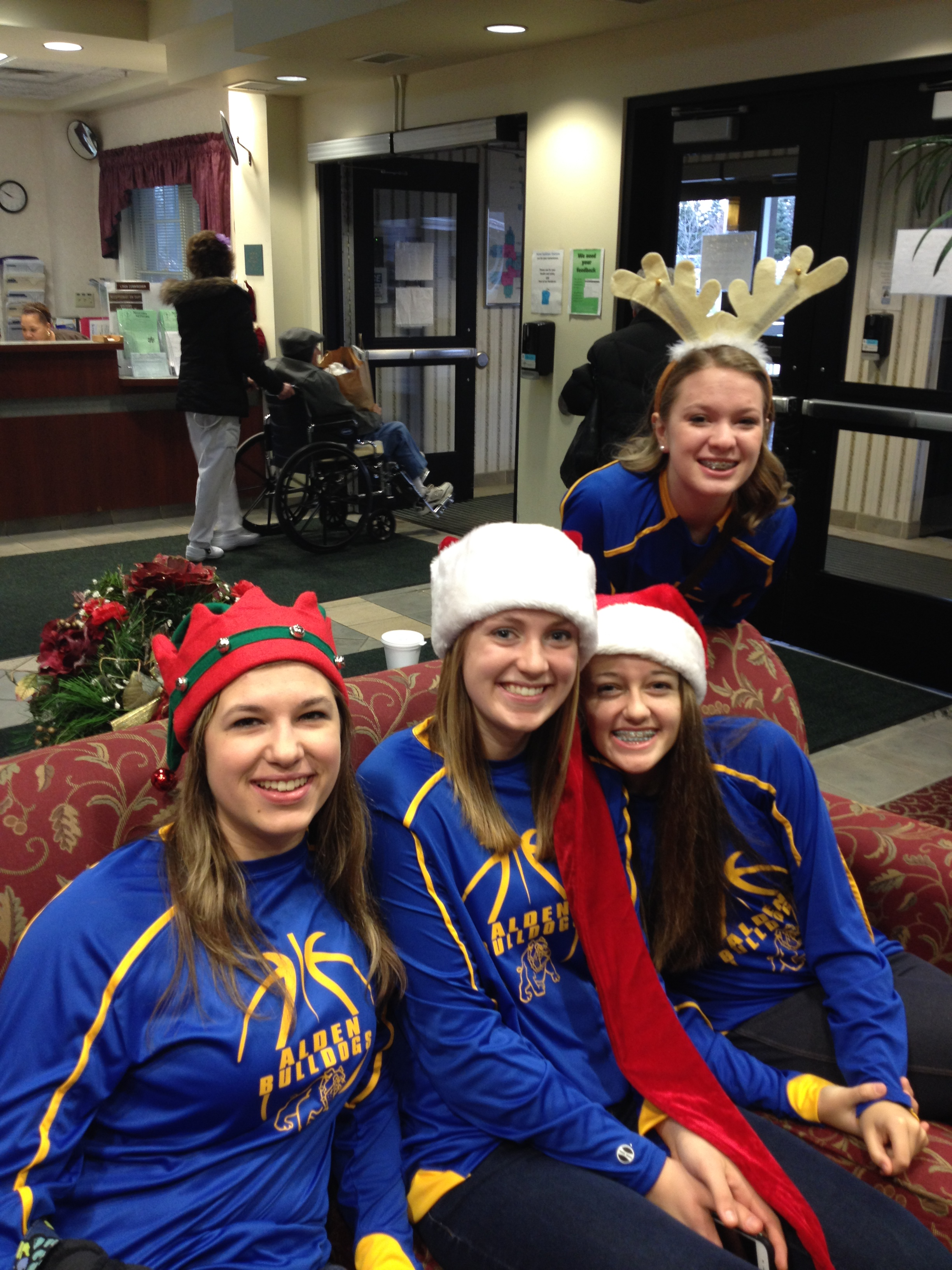 Girls Basketball helps at GreenFields