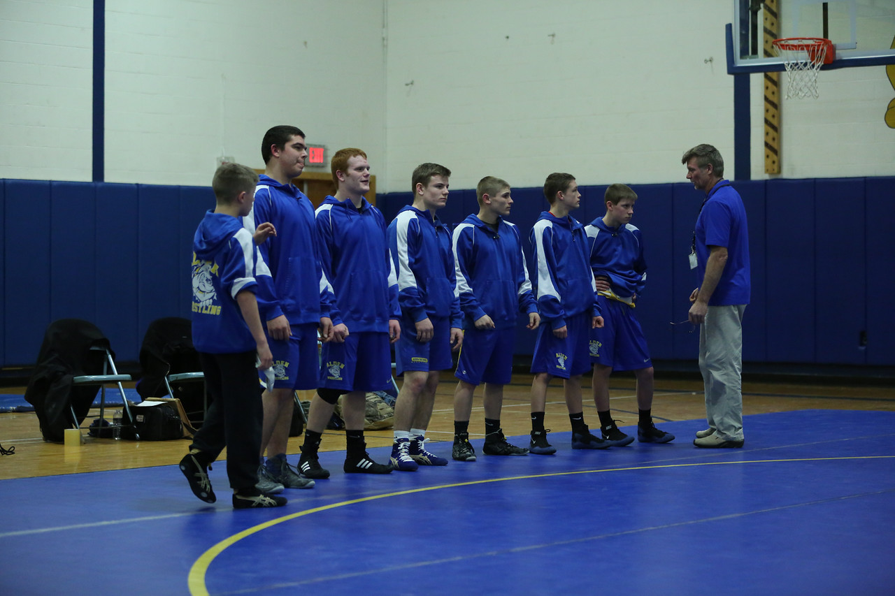 Wrestlers Compete
