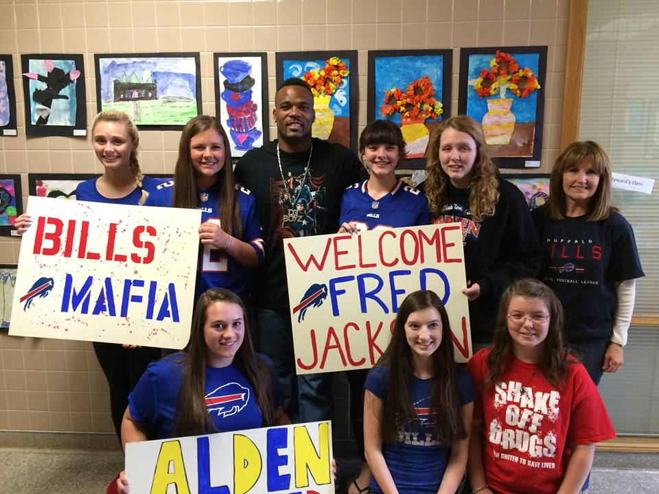 Alden High School Hosts Fred Jackson