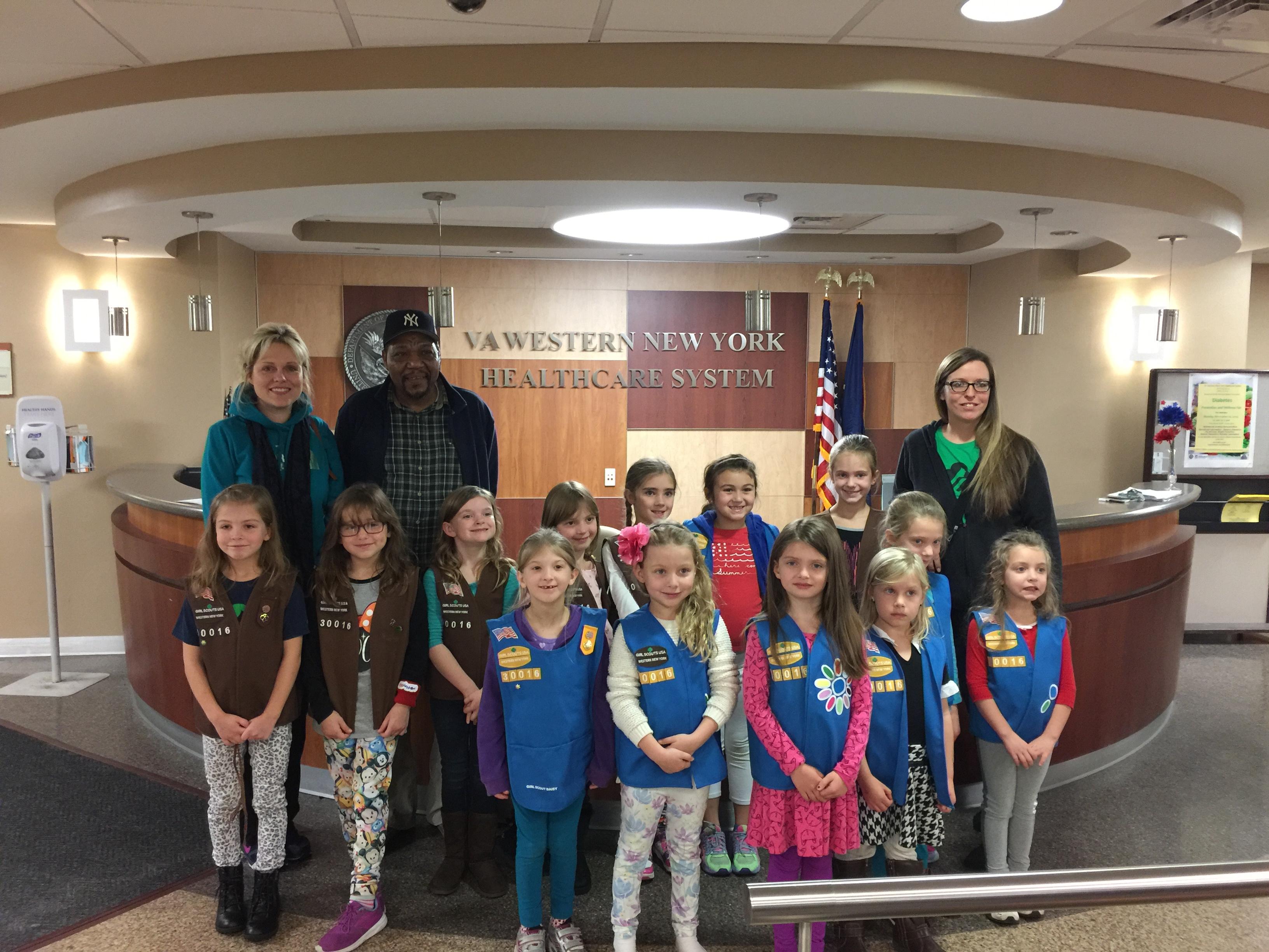 Girl Scouts Visit Veterans