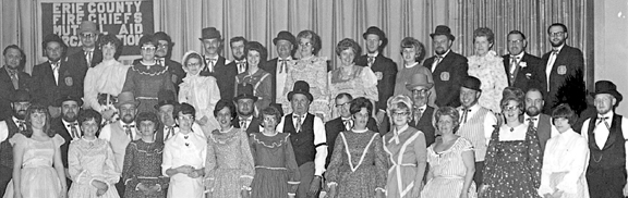 Attend Fire Chiefs Dance in  Centennial attire 1969